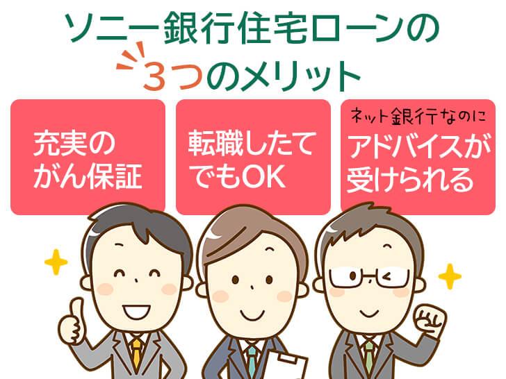 ソニー銀行住宅ローンの3つのメリット